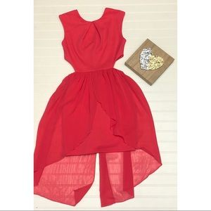ASOS Petite Coral Pink Side Cut Outs Mini Dress
